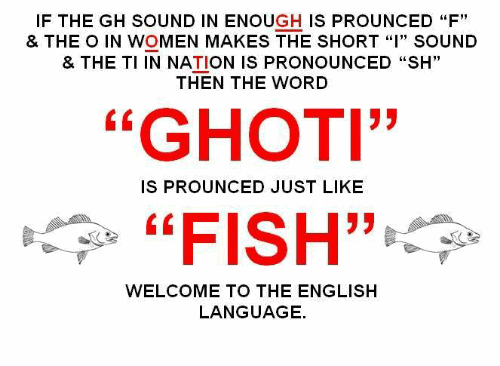 "The famous ""Ghoti"" meme"